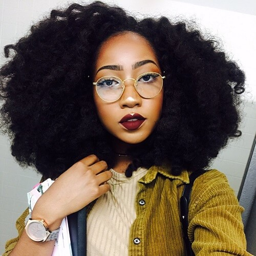 18. All Natural Hairstyles for Medium Length Hair