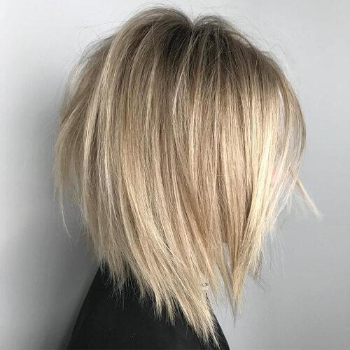 Blonde A-line Bob