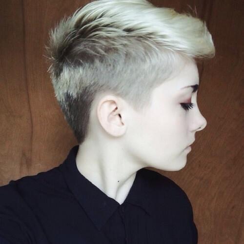 Blonde Pixie Cut Undercut