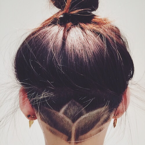 Blossoming Flower Slick Back Undercut