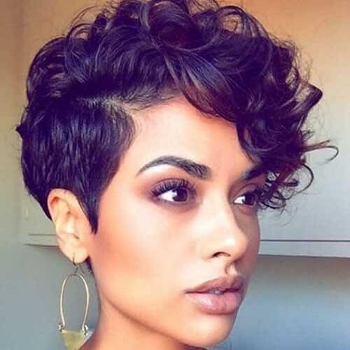 Chic Pixie Cut Curly Hair