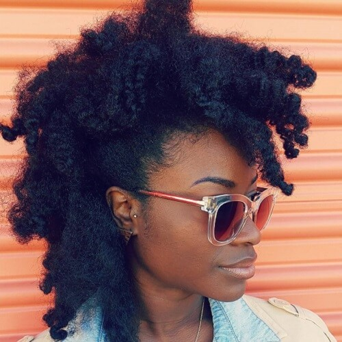 Faux Hawk Protective Hairstyles for Natural Hair