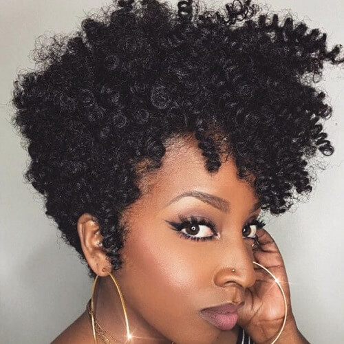 Bantu Twist Out On Short Natural Hair