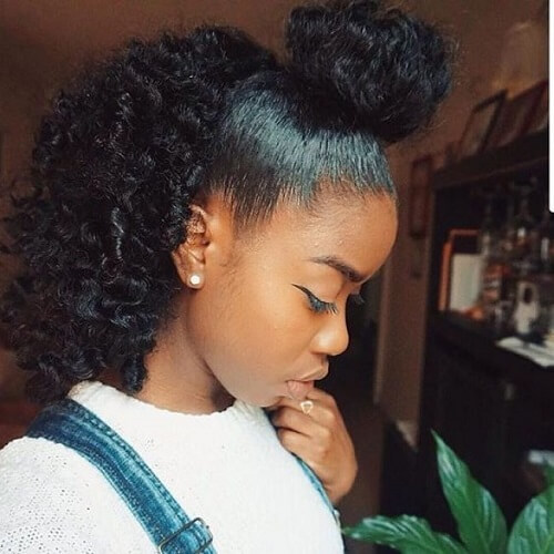 Half Up Half Down Natural Black Hairstyles