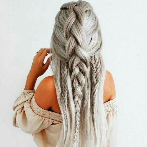 Heavily Braided Long Hairstyles
