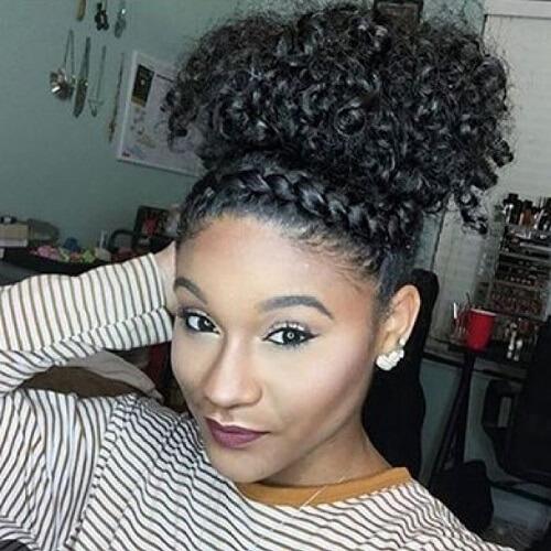 Front twist black hairstyle