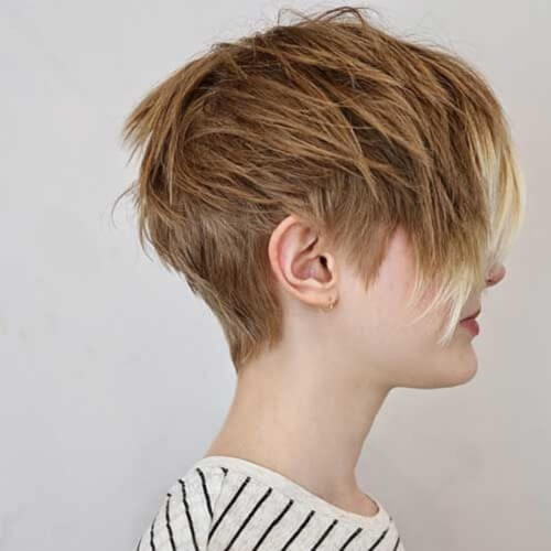 Layered and Tousled pixie cut
