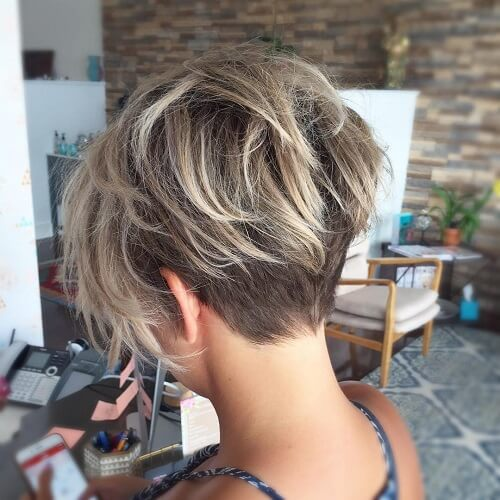 Longer Undercut with Pixie Haircut