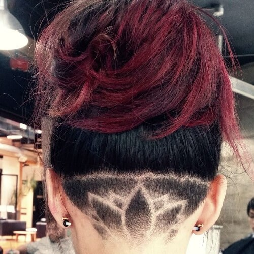 Lotus Flower Undercut Women Style