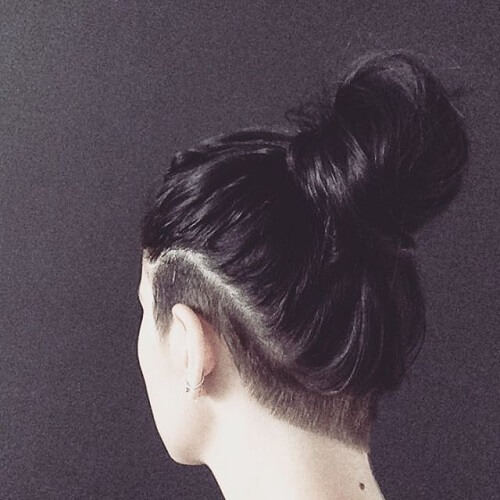 Narrow Shaved Undercut