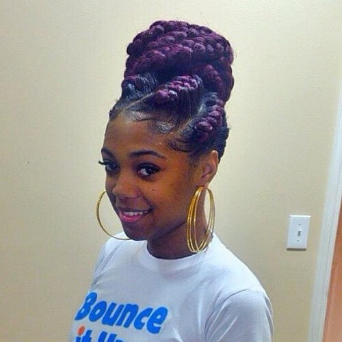 Ombre Goddess Braids with Bun