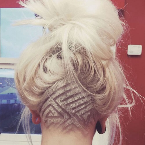 Pattern with Lines undercut