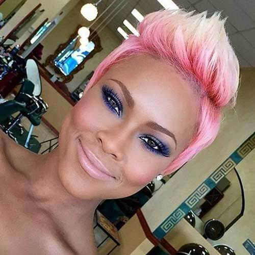 Pink to Blonde Spiked Ombre