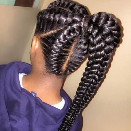 Playful Goddess Braids for Kids