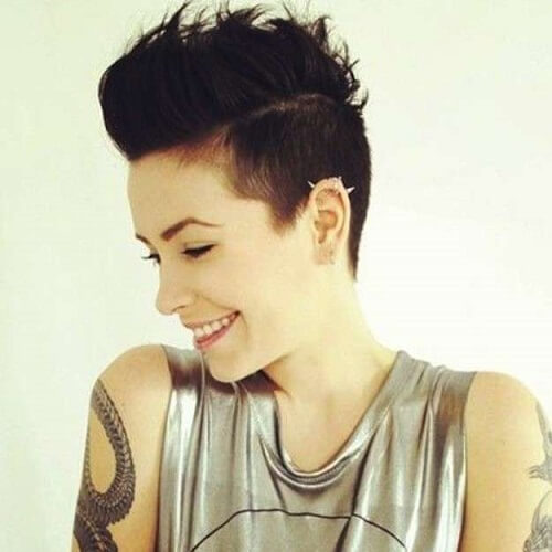Rock Star Pixie Cut Black Hair