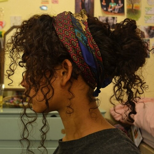 Scarf Hairstyles for Naturally Curly Hair