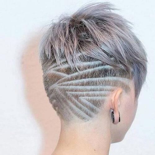 Shaved Ombre Lines