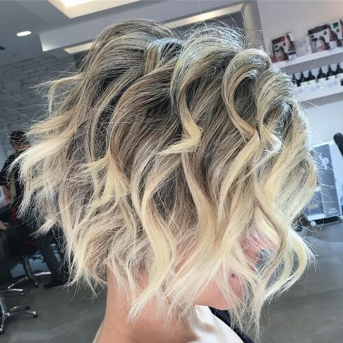 Short Blonde Hair Ombre