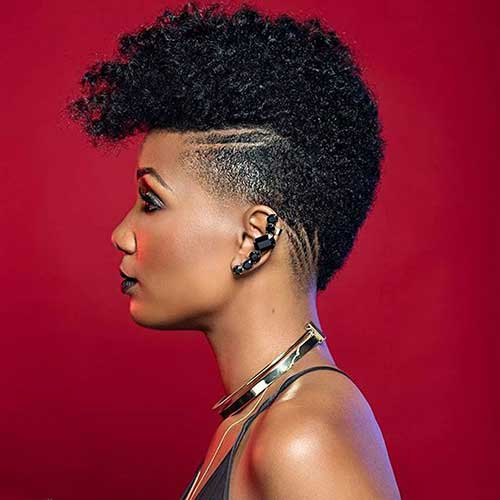 Short Natural Curly Hairstyles with Undercut