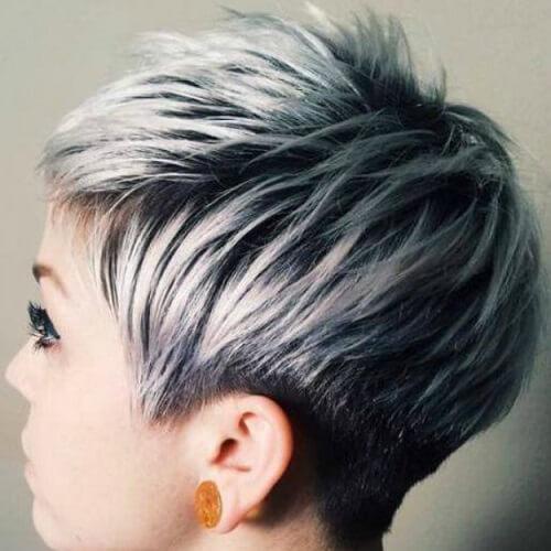 Short Silver Ombre