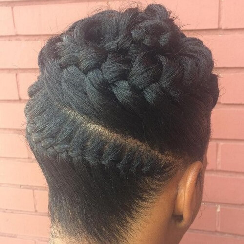 Sleek Goddess Braids Updo