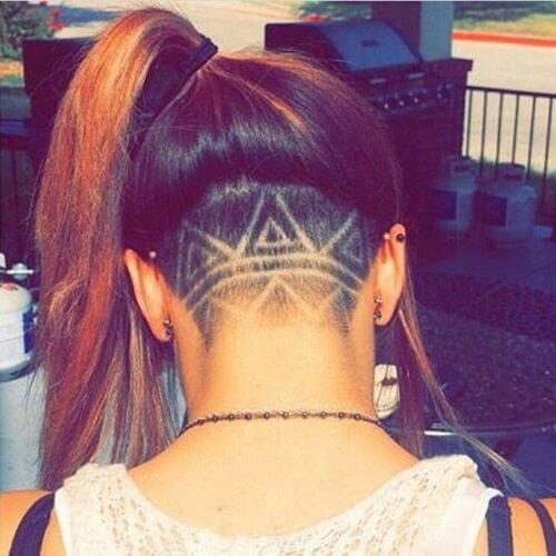 Tribal Long Hair Undercut