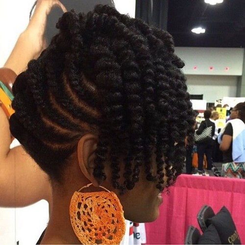 Cute short braids for natural