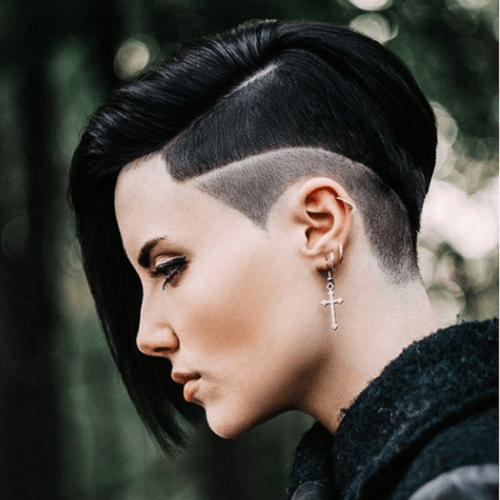 Undercut Pixie with Bangs