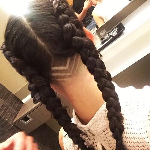V-shaped Undercut Haircut Pattern