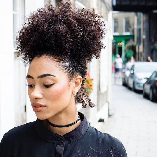 afro-textured puff