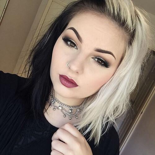 black and blonde hair