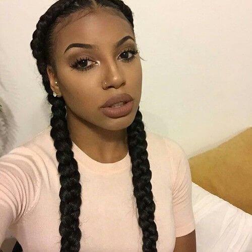 black french braids