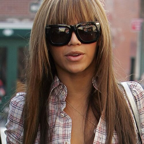 black long hairstyles with bangs and layers