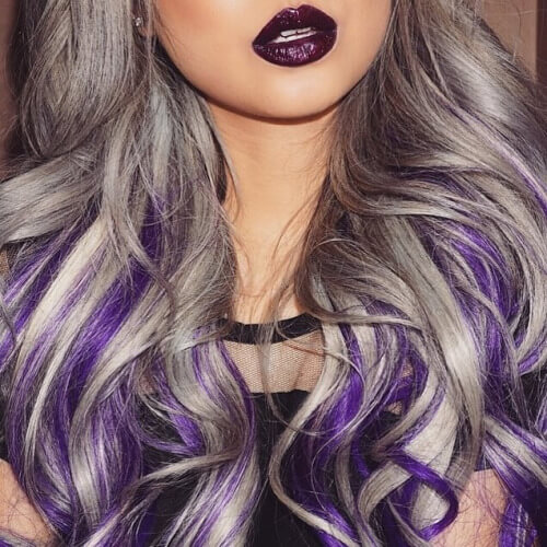 50 Fabulous Purple Hair Suggestions
