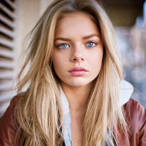blonde hair blue eyes indiana evans