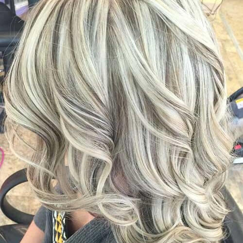blonde hair with lowlights