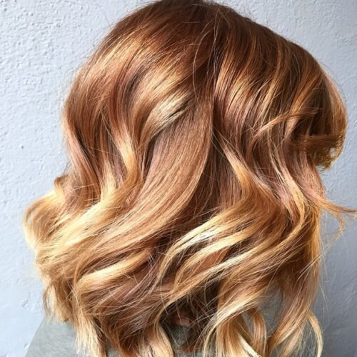 copper blonde balayage