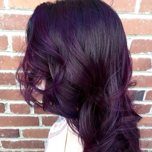 Dark Brown Hair With Purple Undertones - 83.9KB