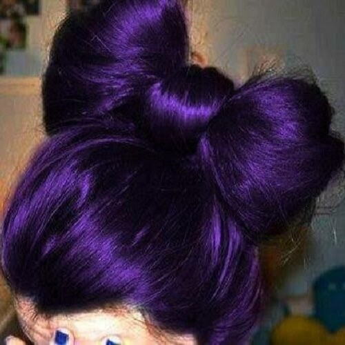 dark violet hair bow