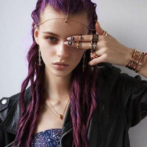 deep purple twists