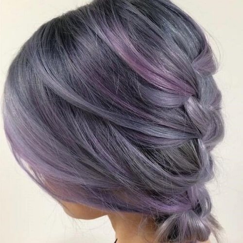 grey purple hair