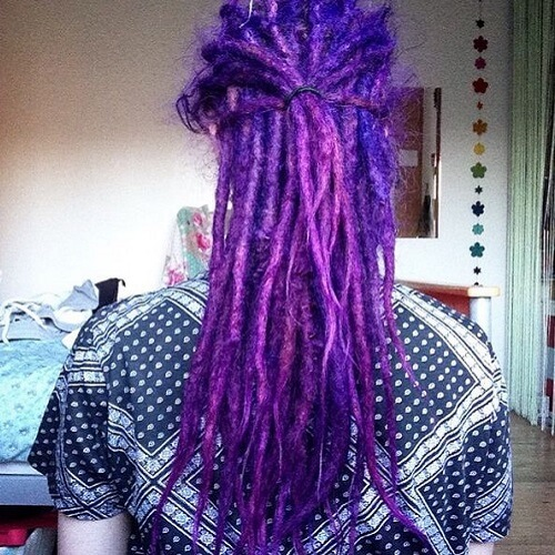 indigo dreadlocks