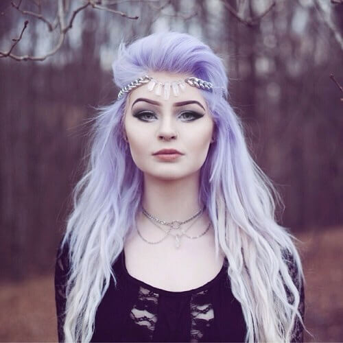 lavender and white hair
