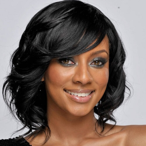 medium black hairstyles