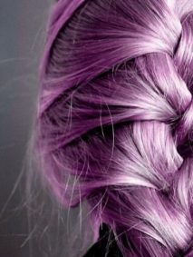 metallic purple french braid