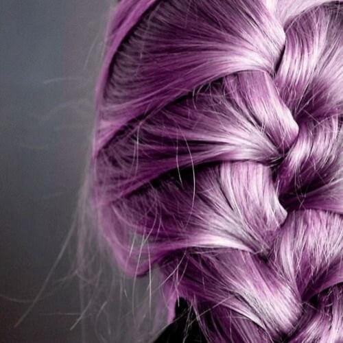 metallic purple french braid