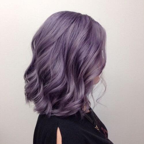metallic purple locks