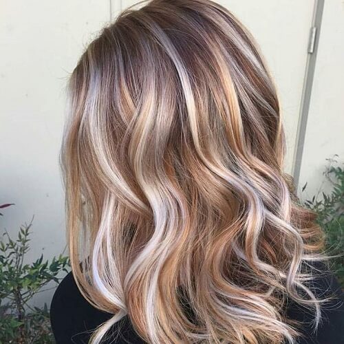 mixed blonde hair colors
