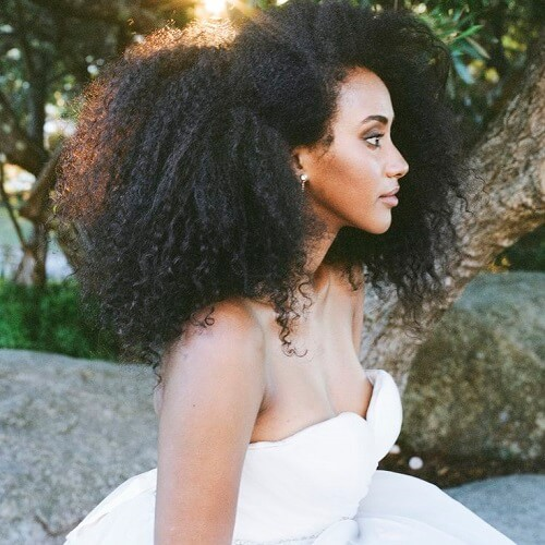 natural black wedding hairstyles