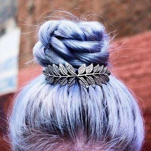 purple hair accessories